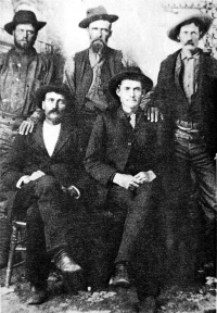 Hancock Brothers: Levi is on the back row in the center
