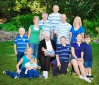 Mom and the grandchildren in 2009