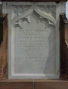 Vilate's panel on stone