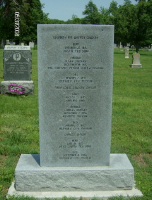 Memorial placed in 2001