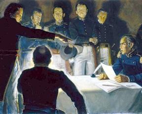 Doniphan telling General Lucas not to shot Joseph Smith.jpg