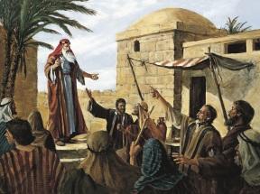 Lehi teaching in Jerusalem