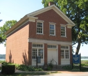 Joseph's Red Brick Store where his office was on the second floor. Nauvoo, Illinois