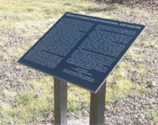 Marker at Ramas (Webster), Illinois