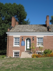 Showing original portion of William Weeks Home in Nauvoo, Illinois.