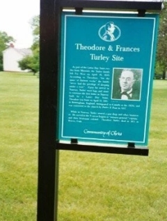 Sign at the home site in Nauvoo