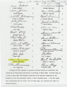 Kirtland Camp Constitution with John Lamoreaux signature