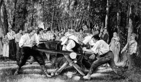 Joseph Smith cutting logs.jpg