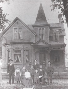 Charles E. Fletcher family in front of Provo Home.