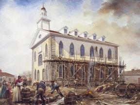 Kirtland Temple exterior construction.jpg