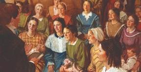 Joseph Smith organizes the Relief Society.jpg