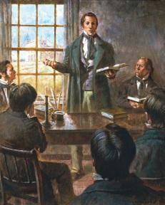 Joseph Smith teaching Apostles.jpg