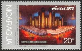 Nicaragua stamp Mormon Tabernacle Choir.jpg