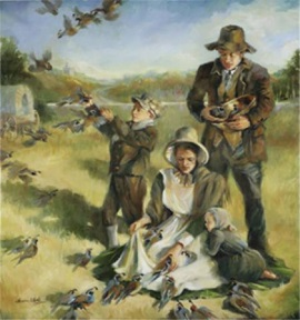 Miracle of the Quail by Sandra Rast