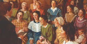 Joseph Smith organizes the Relief Society.jpg