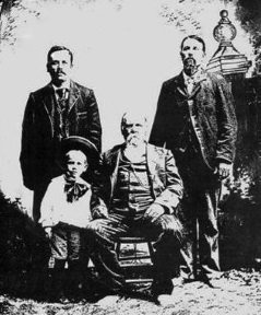Norman in a four generation Taylor family photo.