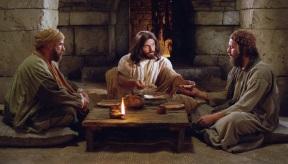 Jesus eats with desciples from Emmaus.jpg