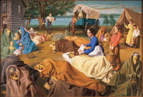 Joseph Smith and Emma care for sick at Commerece.jpg
