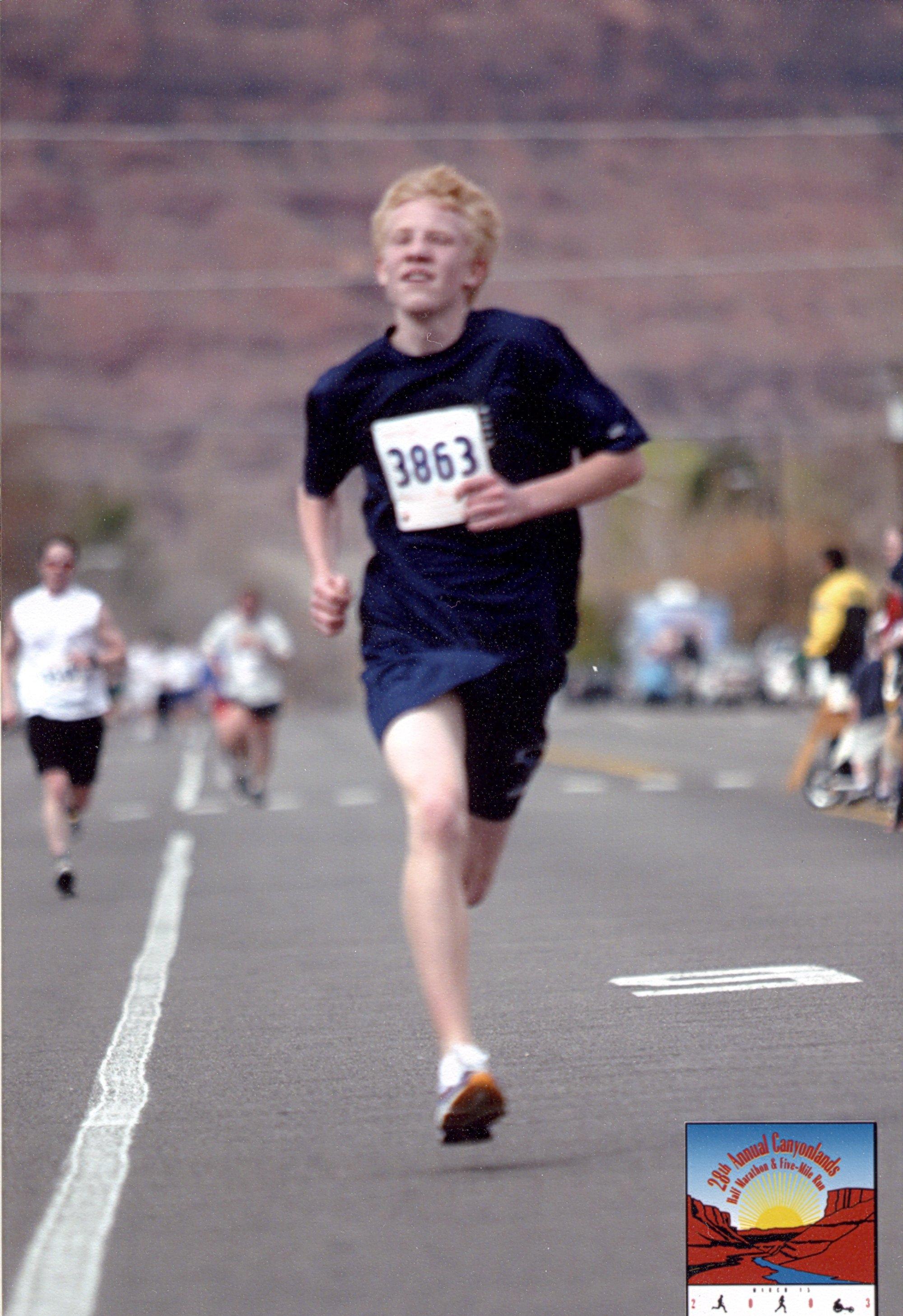 Steven Running race in Moab, Utah - March 15, 2003.jpg