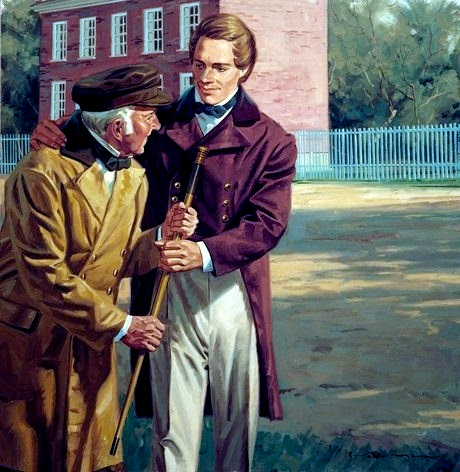 Joseph Smith helping an older man.jpg