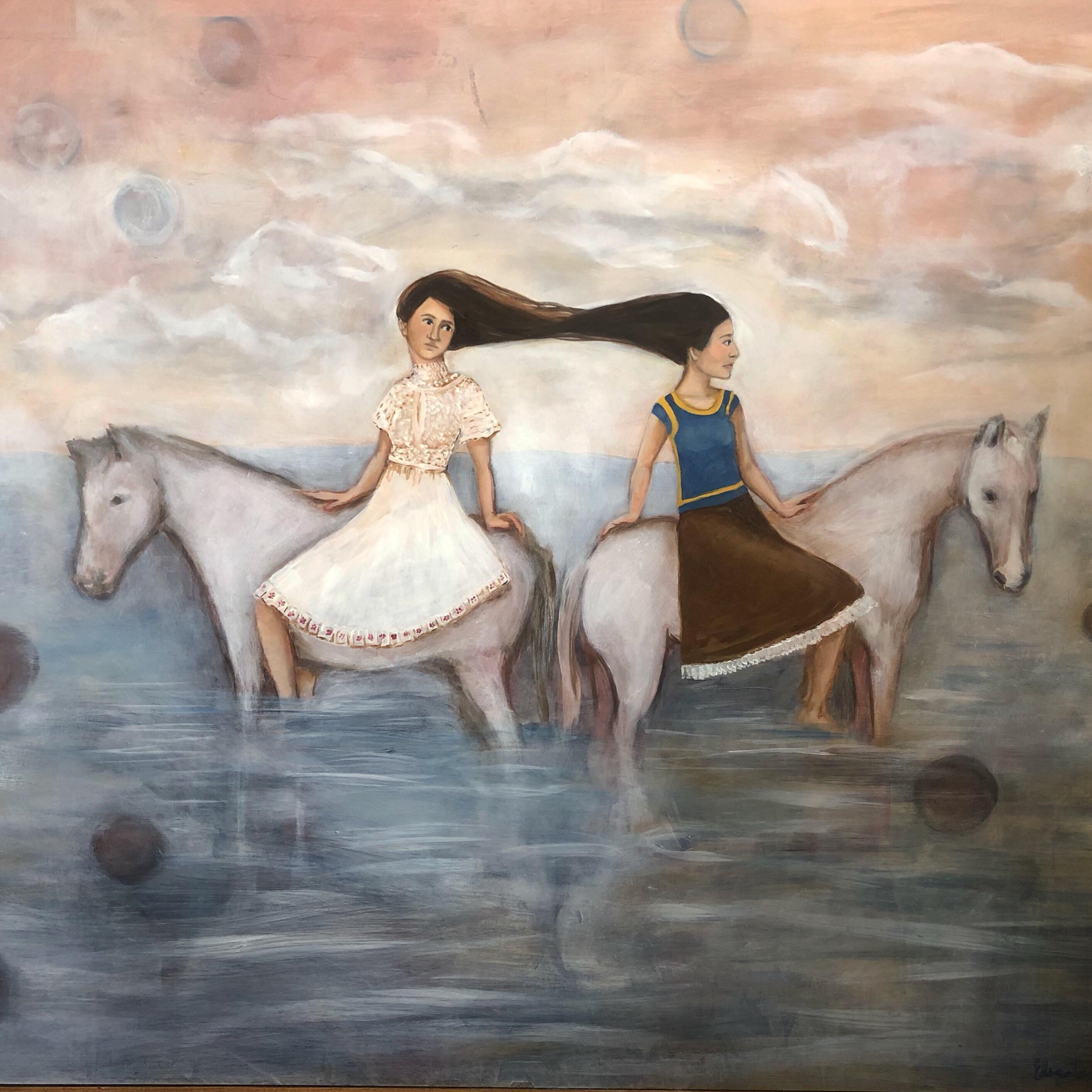 """""""Then"""" by Elizabeth Sanchez. 30""""x 40"""" Oil on Board"""