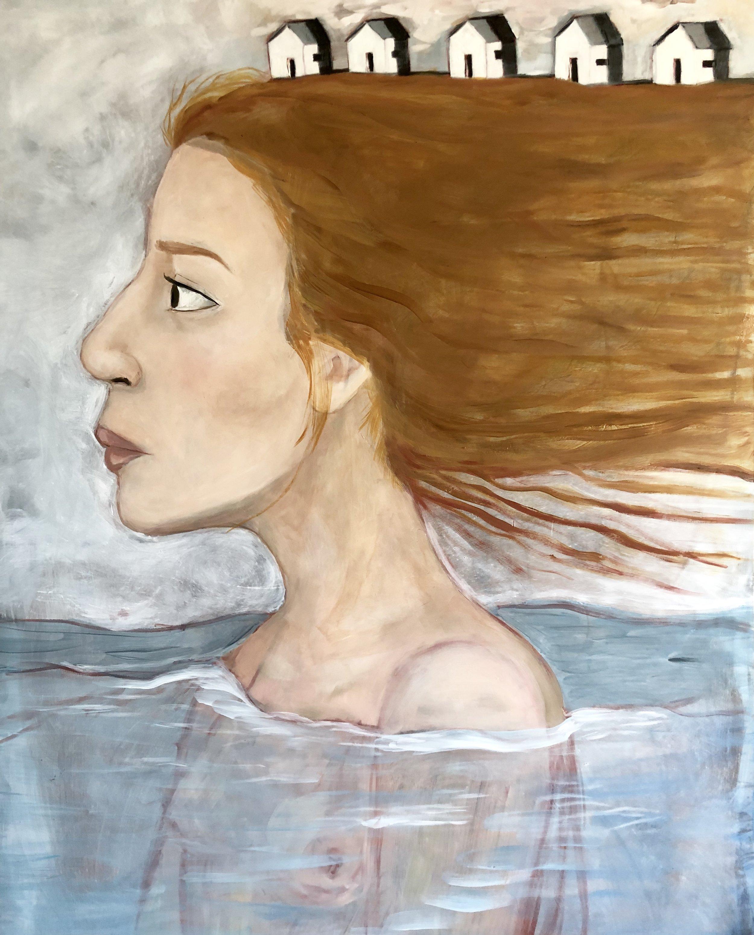 """Mental Fog"" by Elizabeth Sanchez. 24"" x 36"" Oil on Panel"