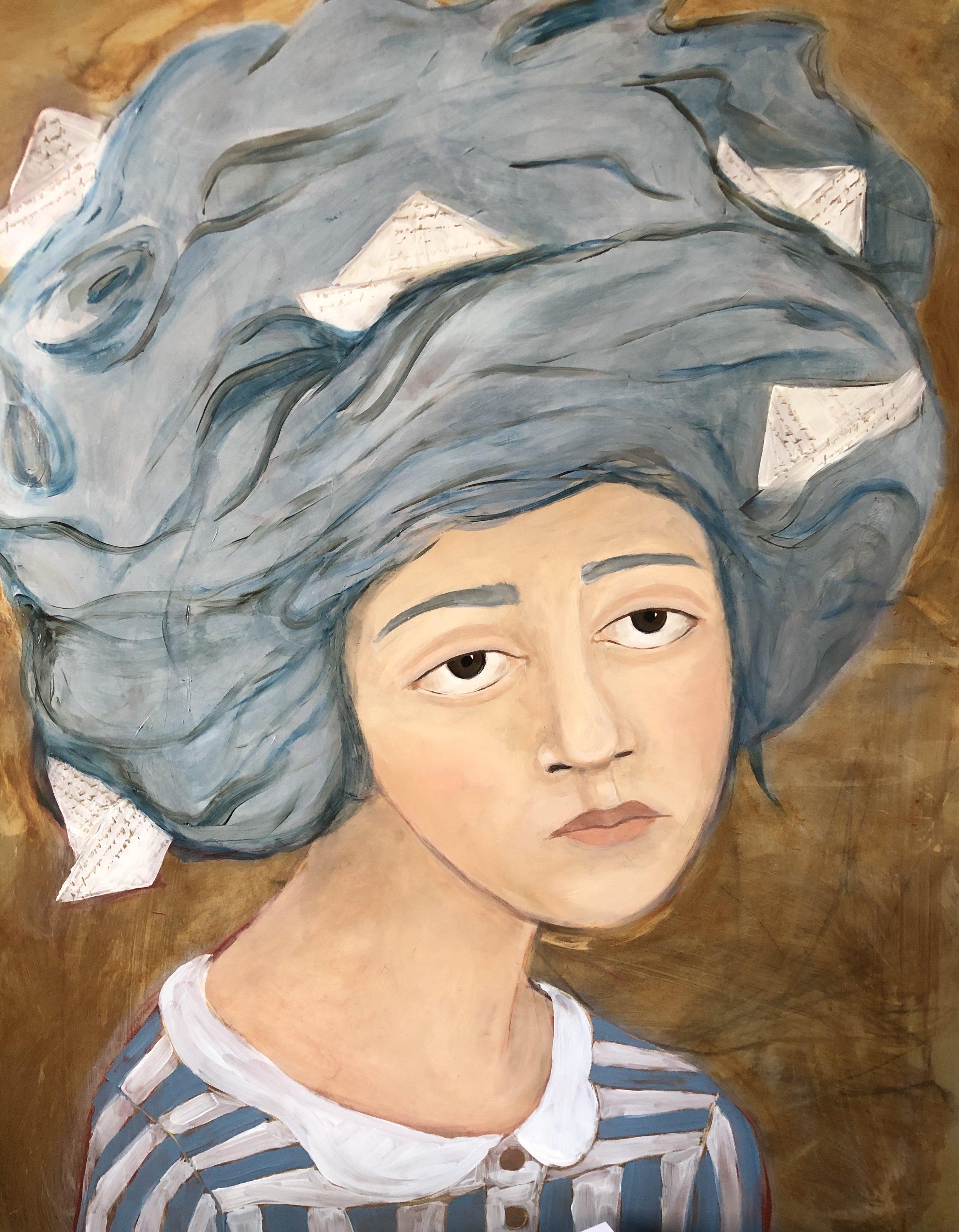 """Pirated"" by Elizabeth Sanchez. Oil on Panel."