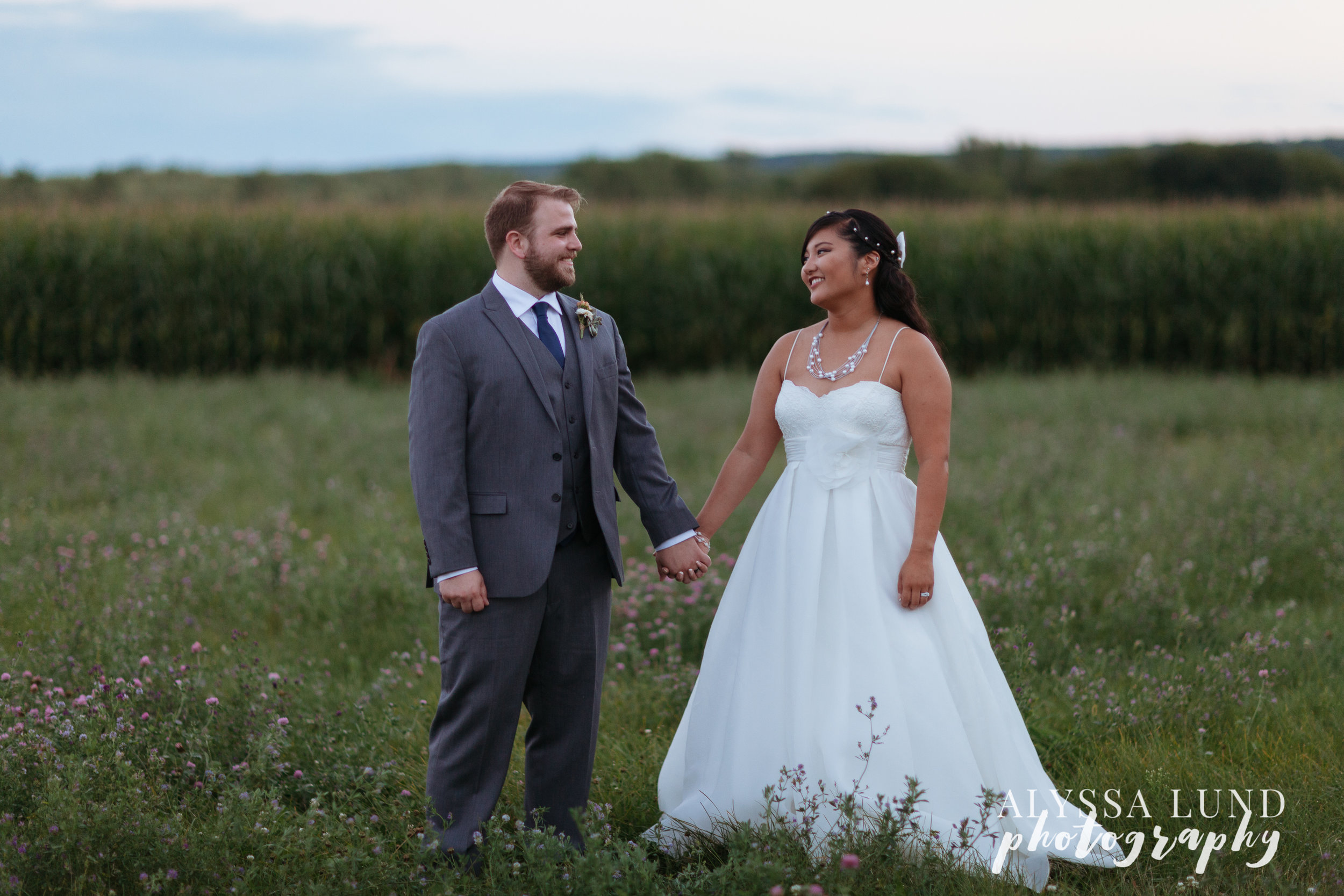 Minnesota Outdoor Wedding Photography at Dusk