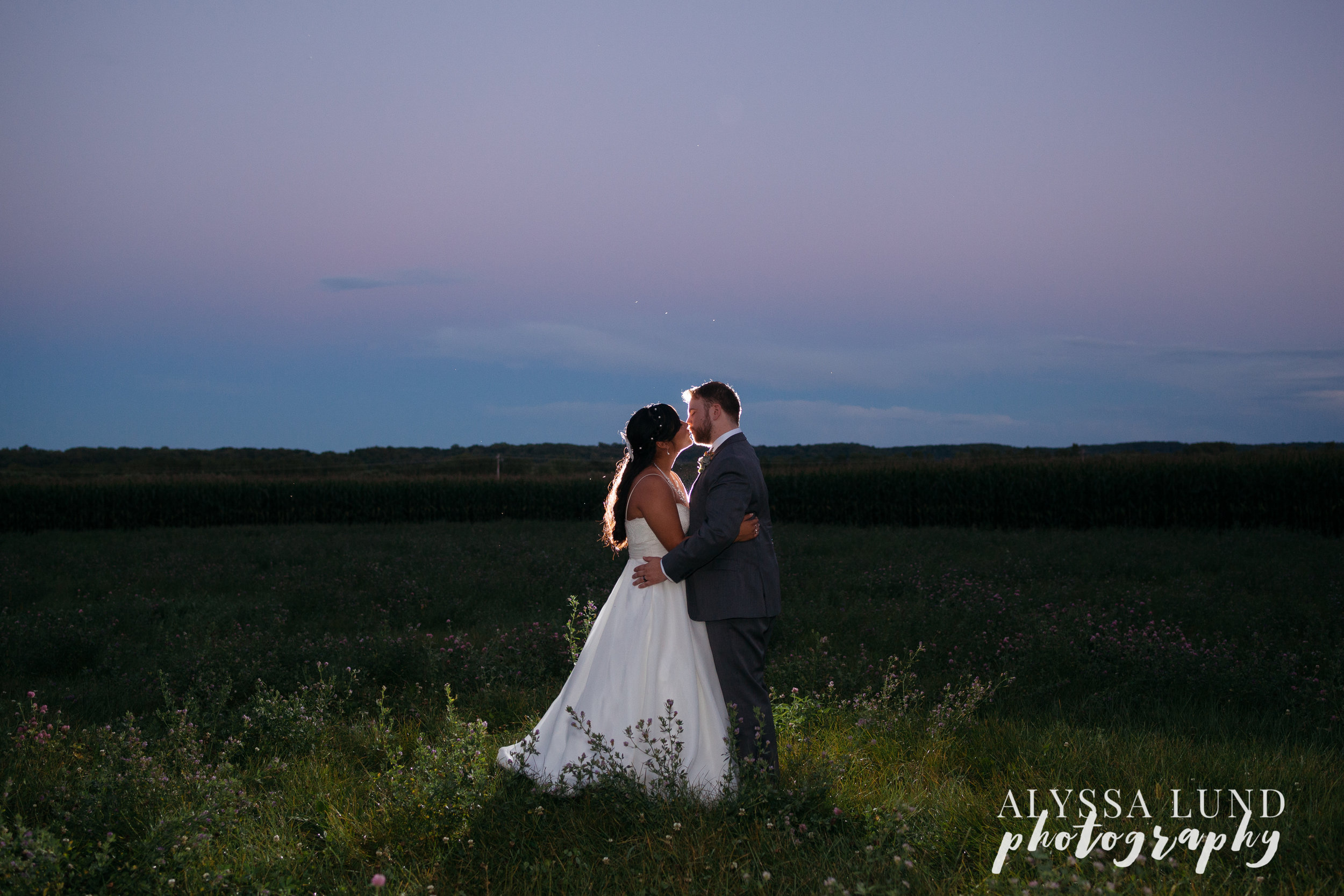 outdoor wedding at Edgewood Farm in Henderson MN