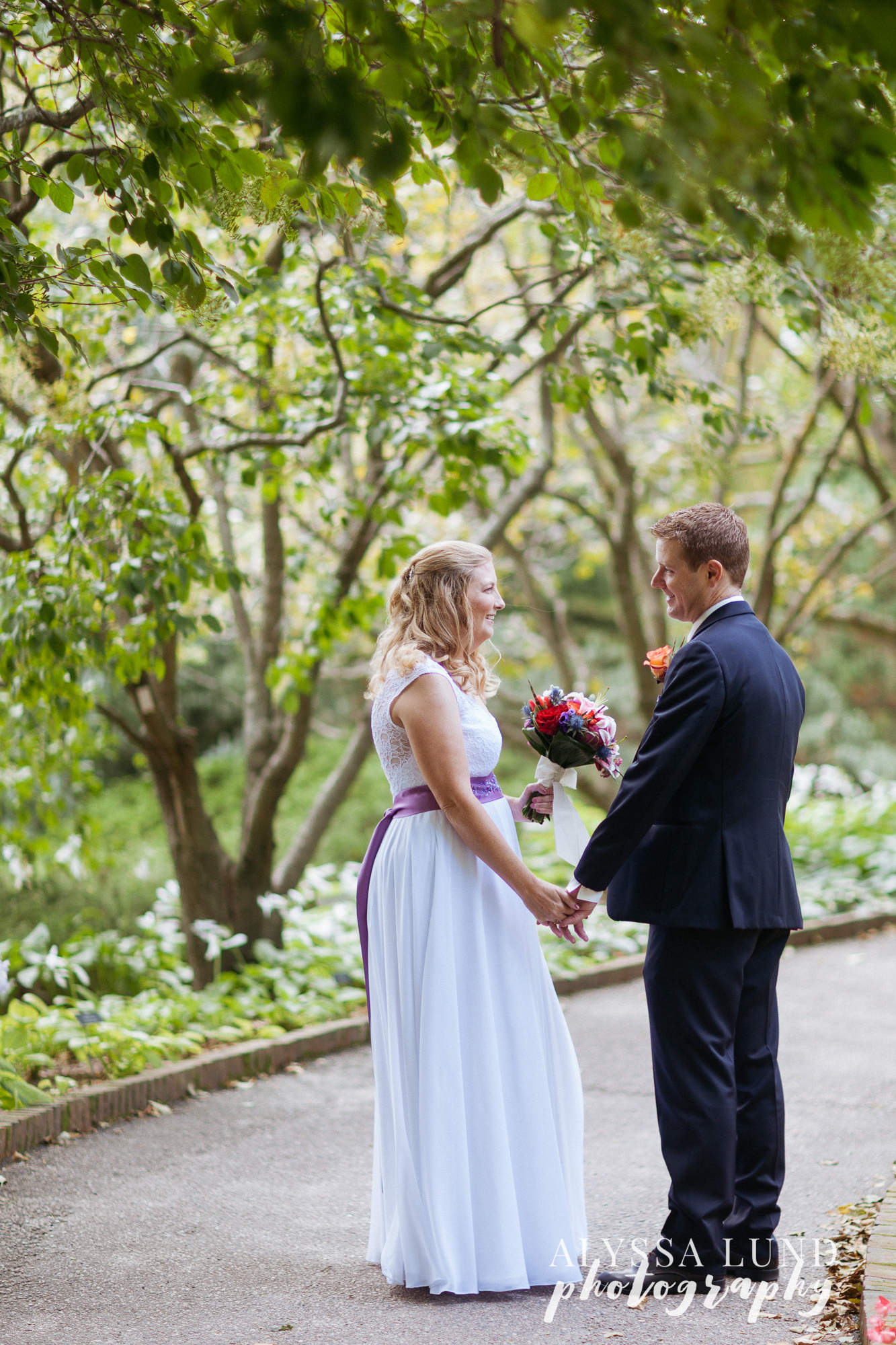 Outdoor wedding at the Minnesota Landscape Arboretum