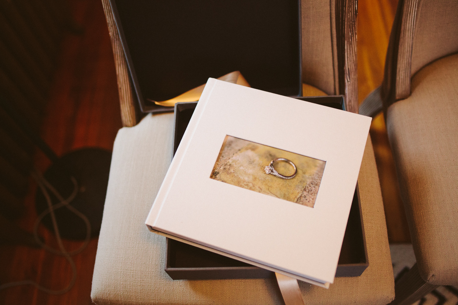 Gray linen wedding album by Alyssa Lund Photography.jpg