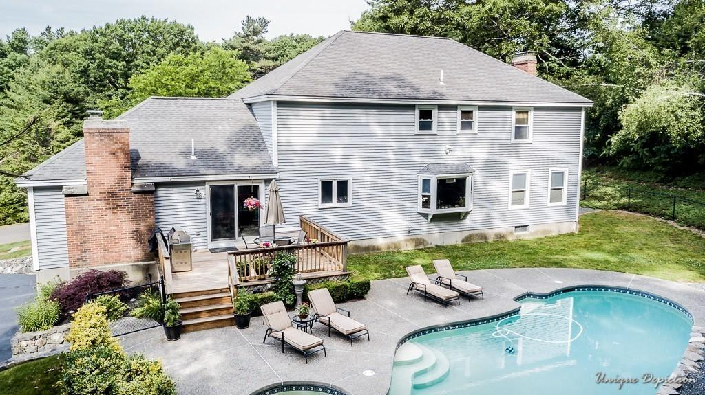 172 Coventry Ln North Andover - $729,900 - This beautiful 4 bedroom, 3 bathroom home boasts a Gunite heated pool with patio surround and very private backyard.