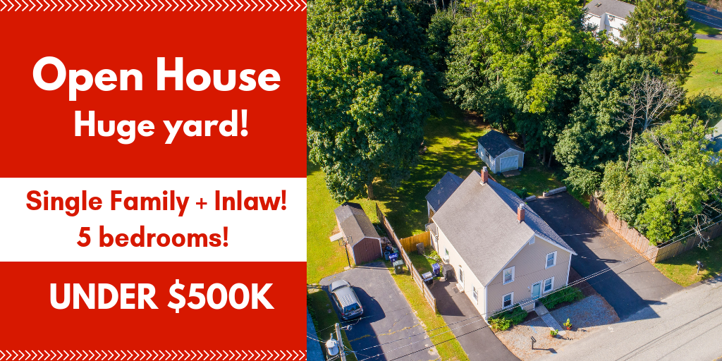 Lisa has listed this super cute Single family with accessory/inlaw apartment ! Open House Event Sunday 1pm to 3pm!  Click here for all of the details on this North Shore gem.