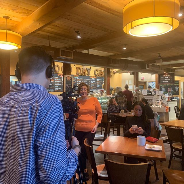 #northandover restaurant week! We are back at it today with @merrimackvalleychamber shooting @gooddaycafe_na for our upcoming Restaurant week commercials. Swipe right and check out the #baconmuffin
