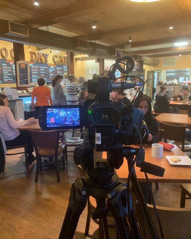#northandoverrestaurantweek ! It's almost time! We are back at it shooting commercials on the road to restaurant week today with @merrimackvalleychamber at the @gooddaycafe_na