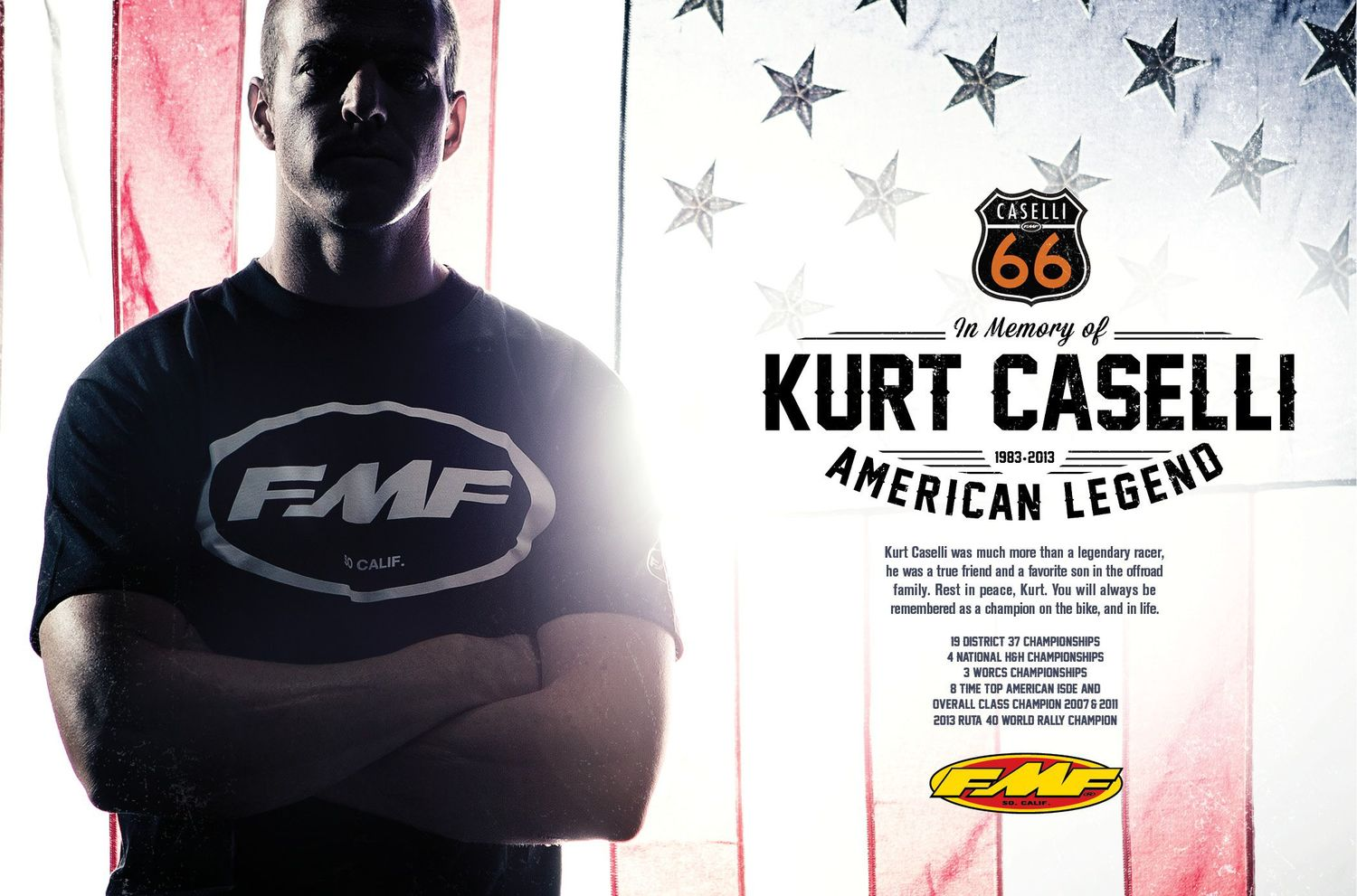 Founded in honor of the legend  @KurtCaselli66 . Protecting and supporting the lives of off-road riders.