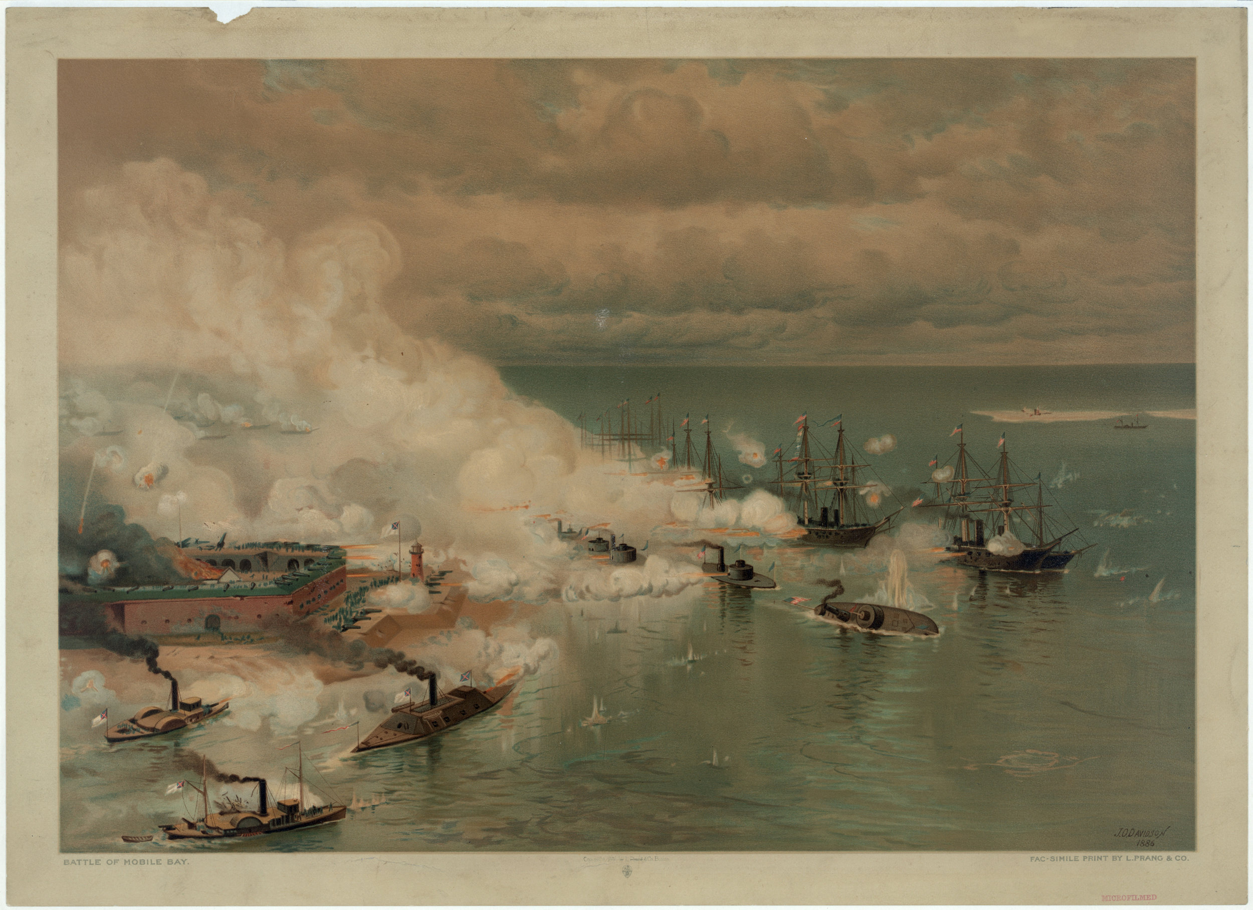 Julian O. Davidson. Battle of Mobile Bay. ca. 1864 (Louis Prang & Co.)