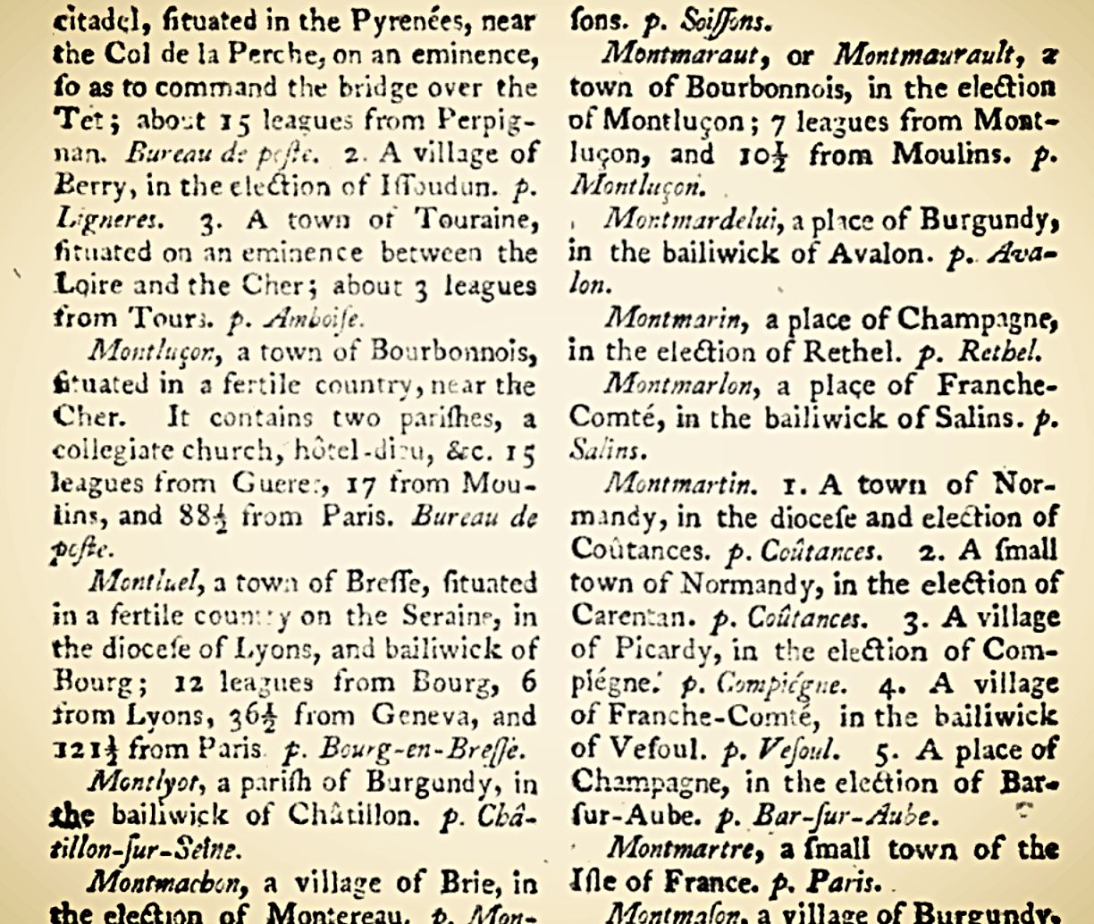 Cruttwell, Clement.  A Gazetteer of France . Vol. 2. London: G.G.J. and J. Robinson, 1793.