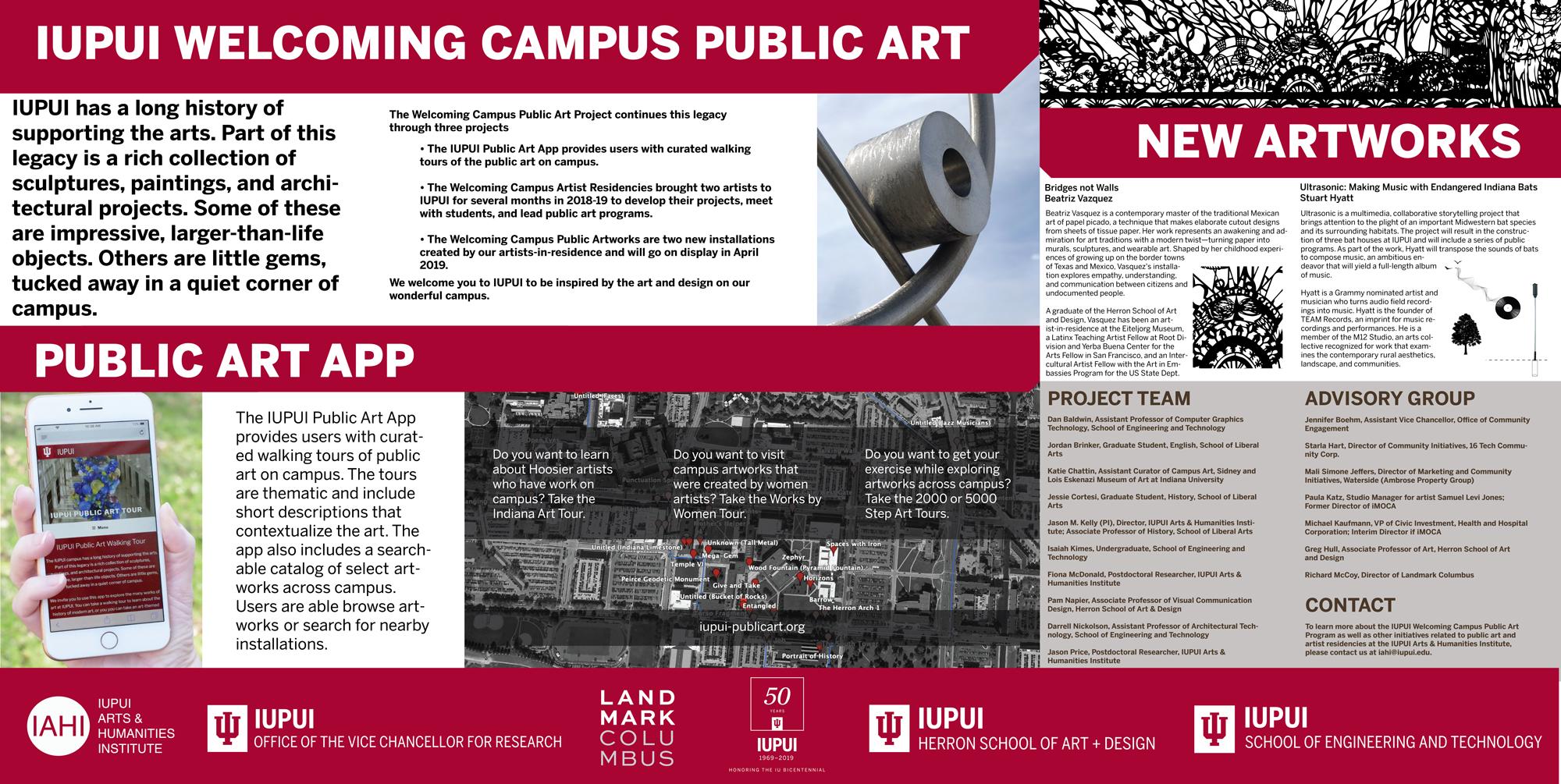 IUPUI Welcoming Campus Public Art Poster