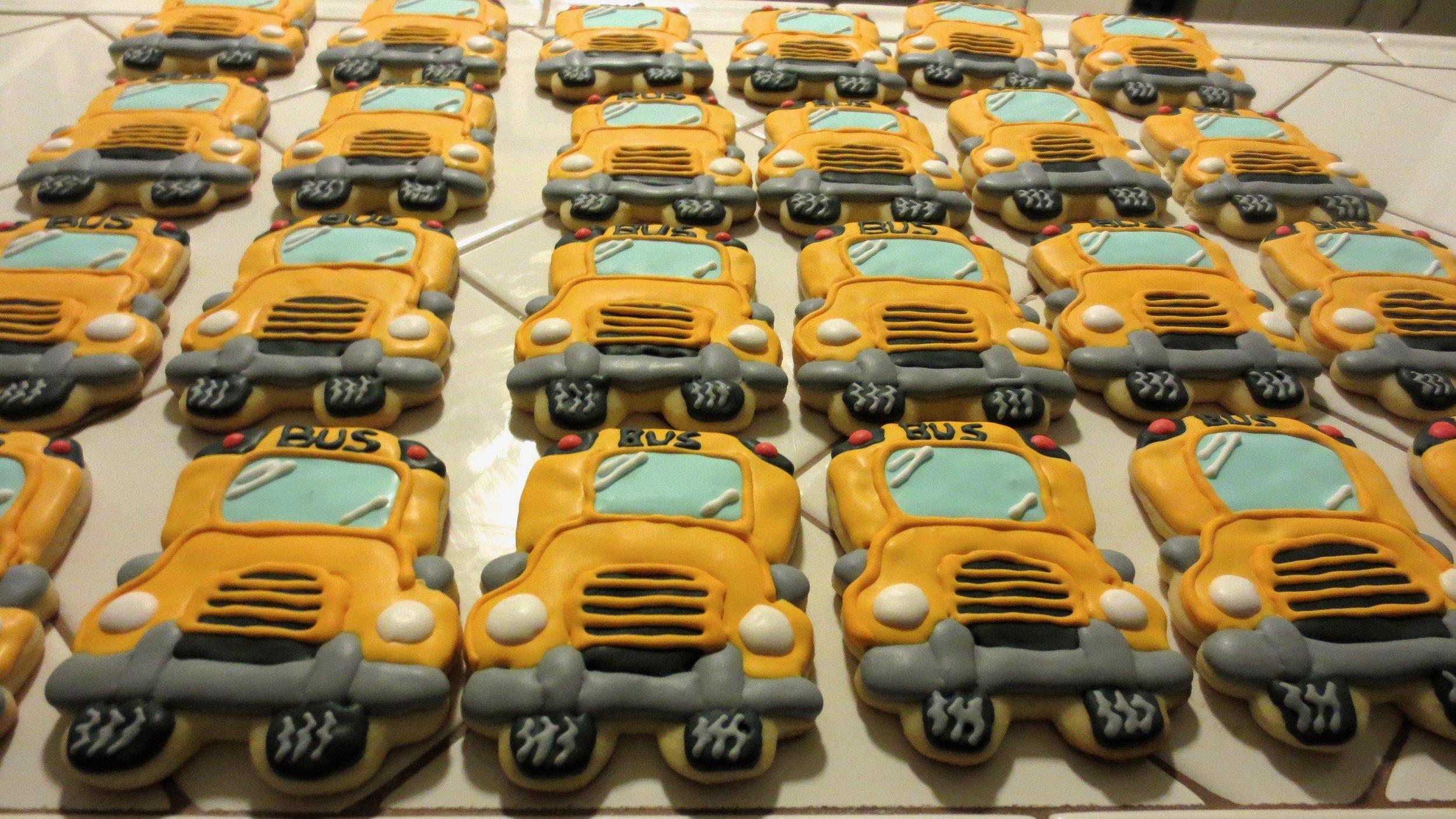 Schoolbus Cookies