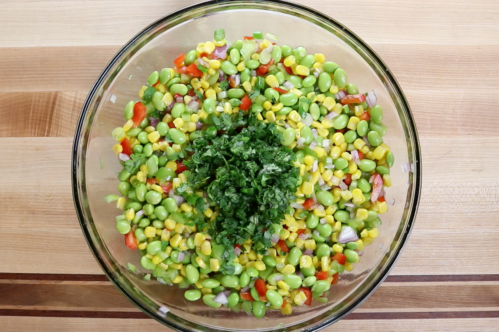 4. Add cilantro and lightly mix. -