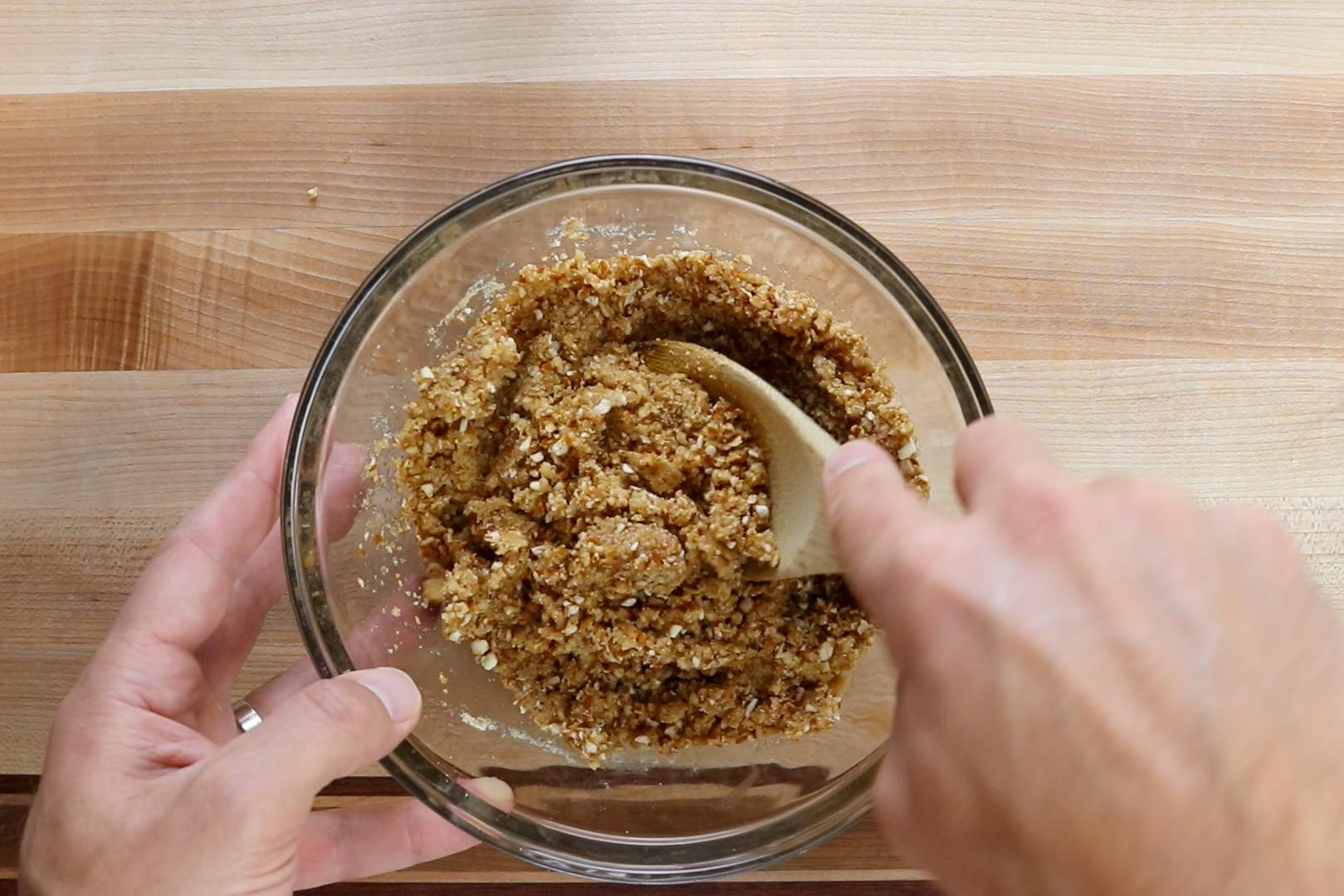 4.Add pretzel/graham cracker mixture and stir until combined. -