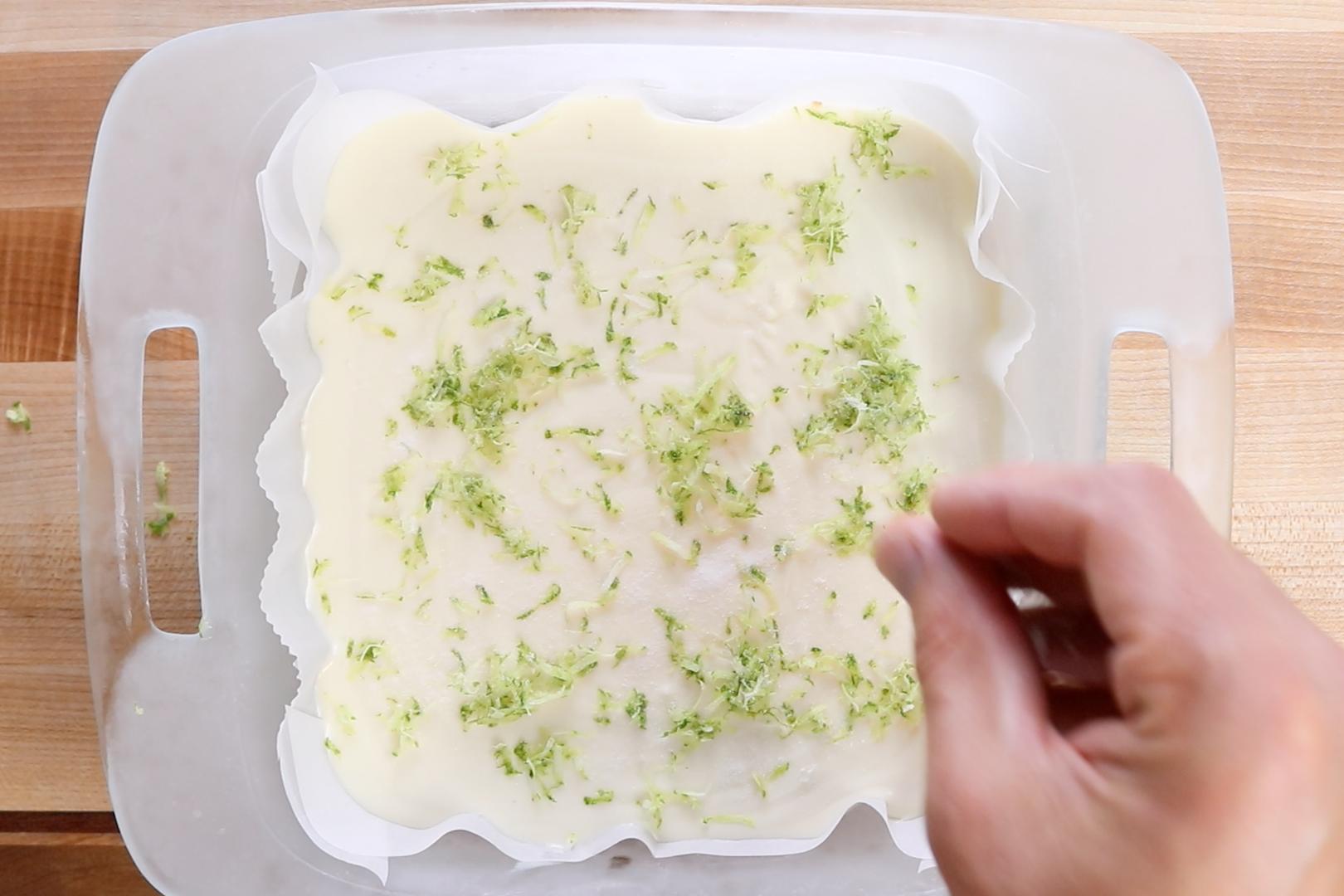 11. Add a garnish of lime zest and sugar/salt mixture if desired. -