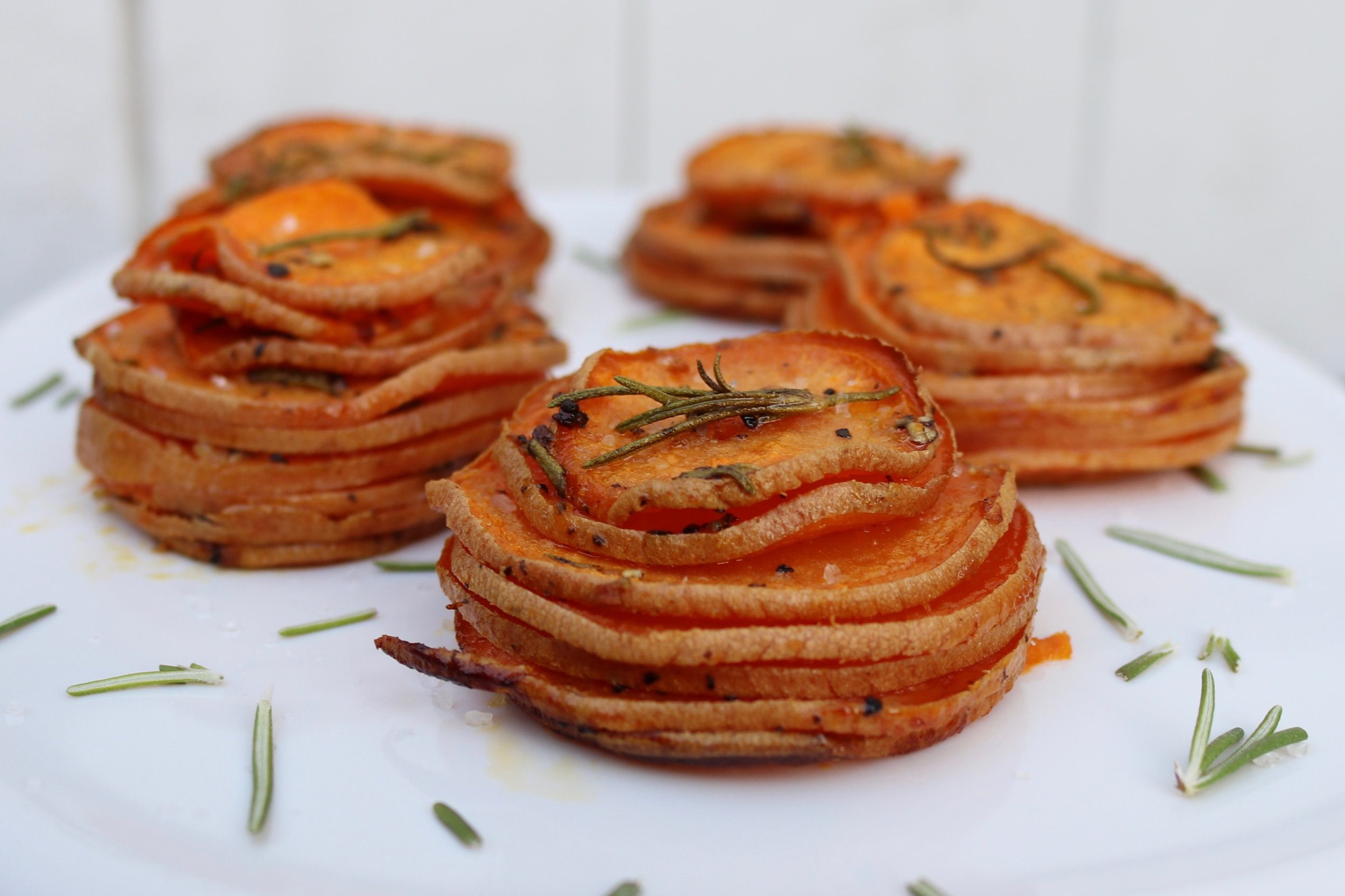 Savory Sweet Potato Stacks