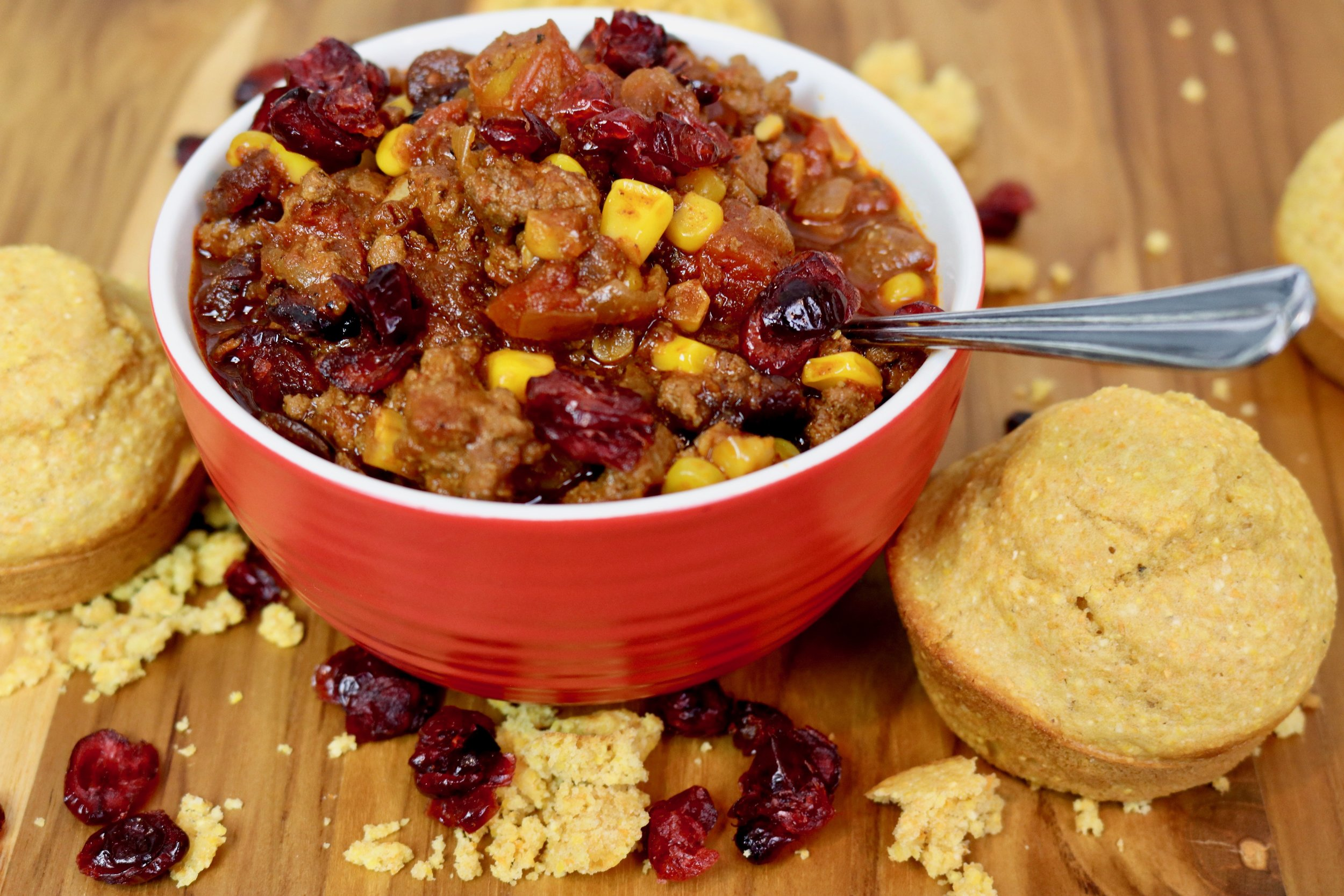 Cranberry Turkey Chili