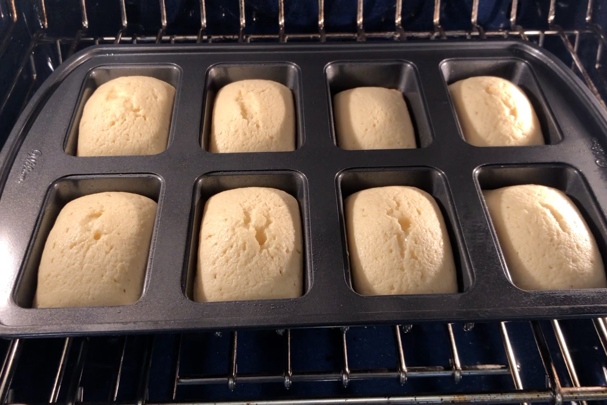10. Bake for 18-20 or until a toothpick inserted into the center comes out mostly clean. -