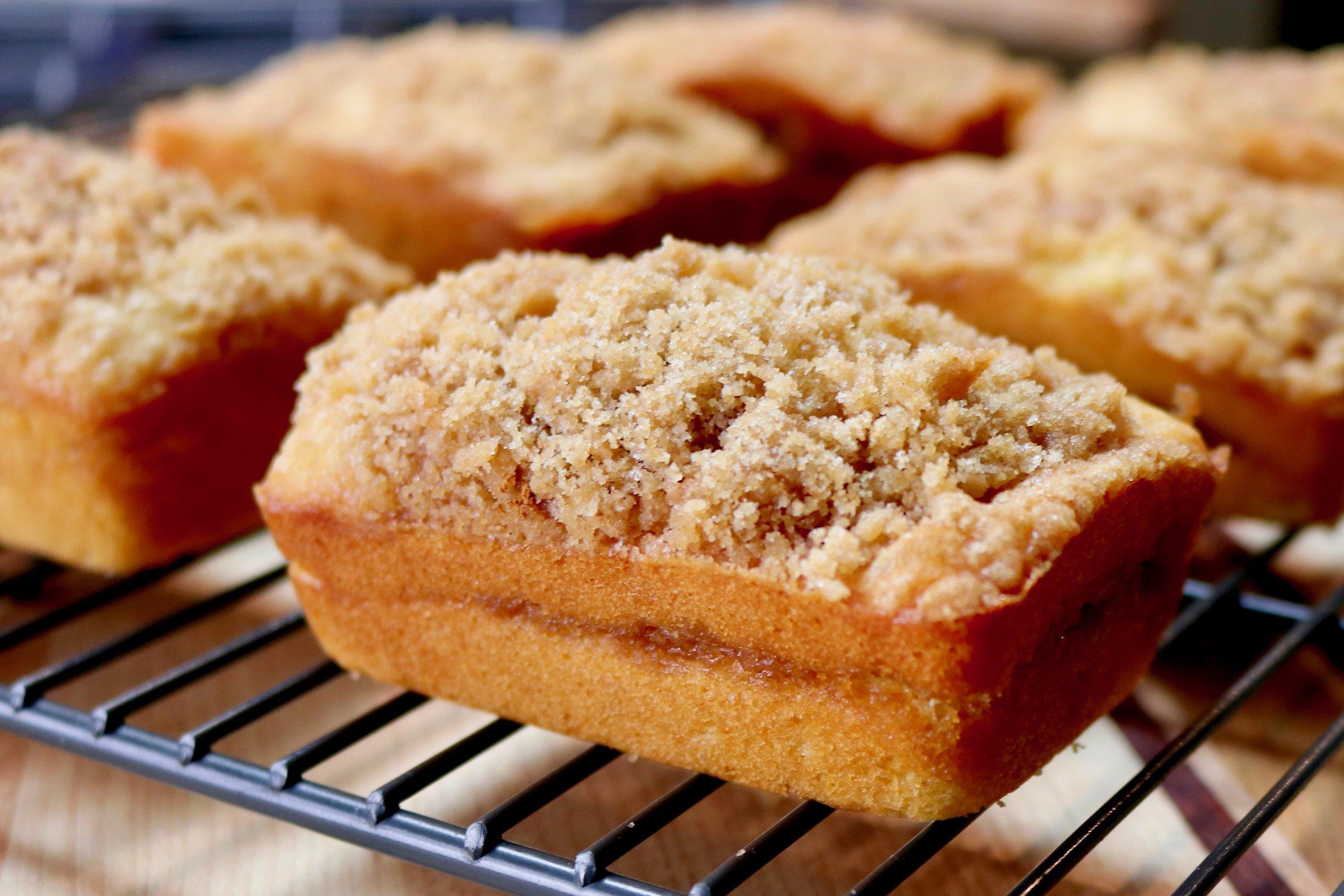 Sour Cream Coffee Cake Mini-Loaves