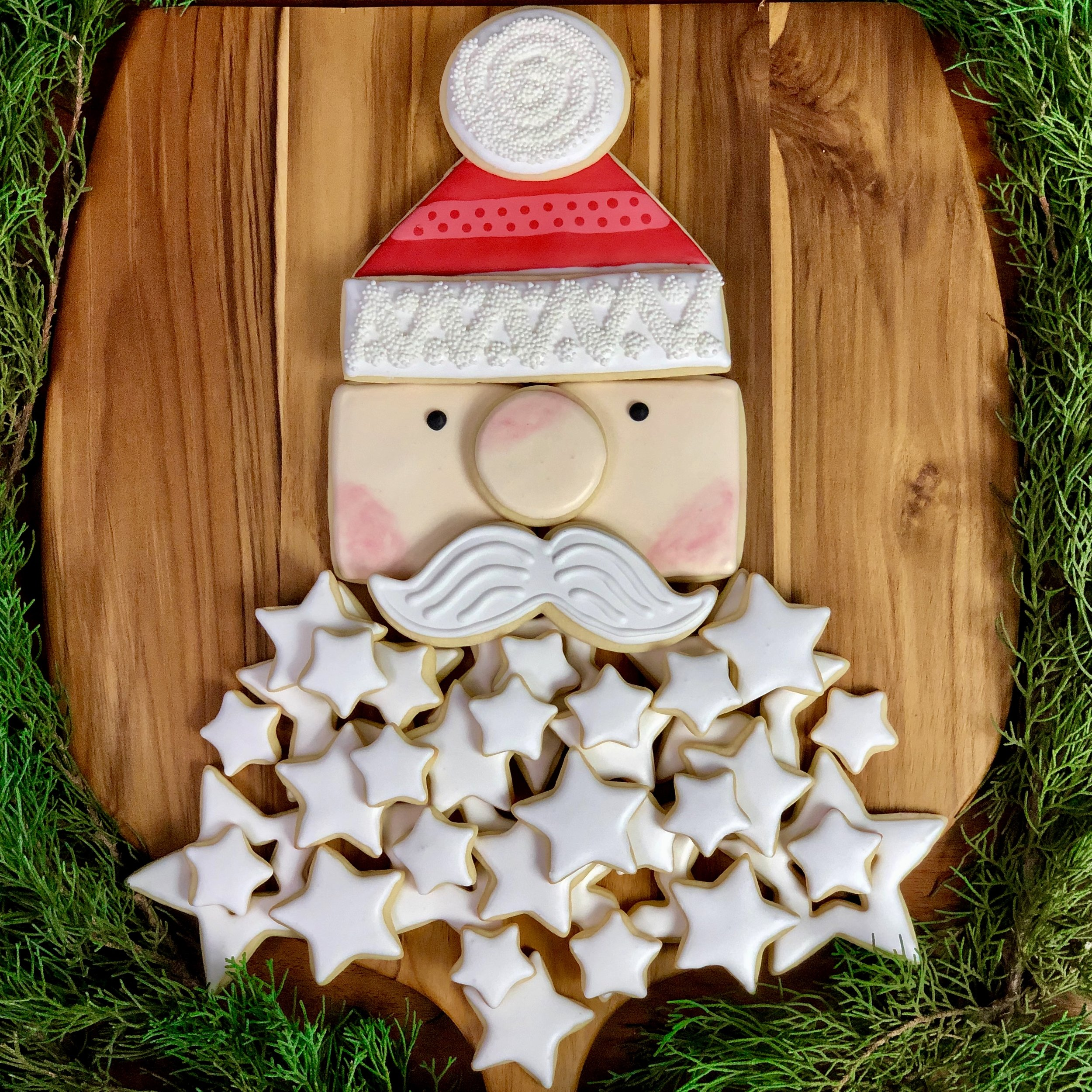 Santa Beard Cookie Platter