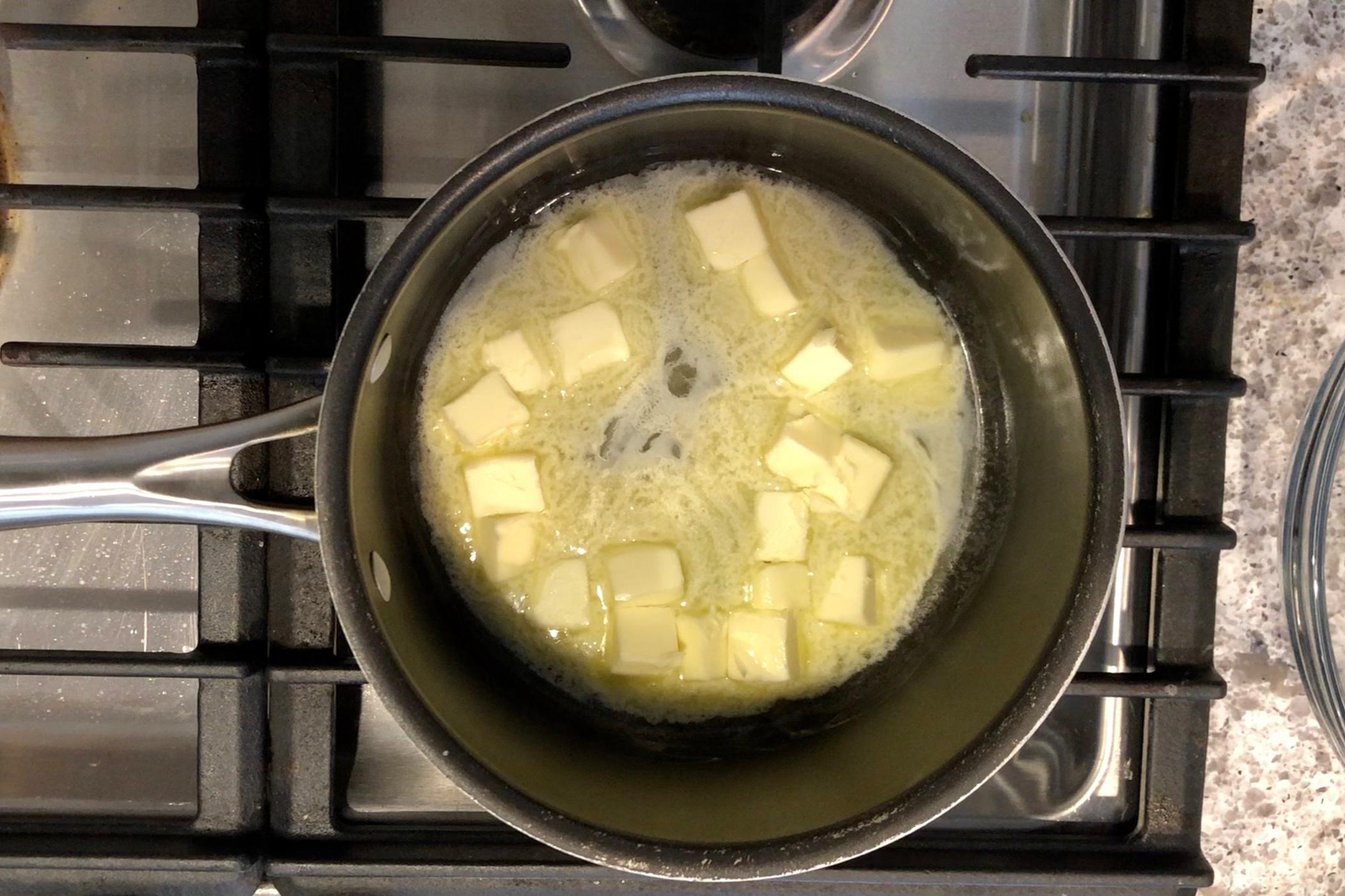 2. Melt butter over medium heat in a medium saucepan. -