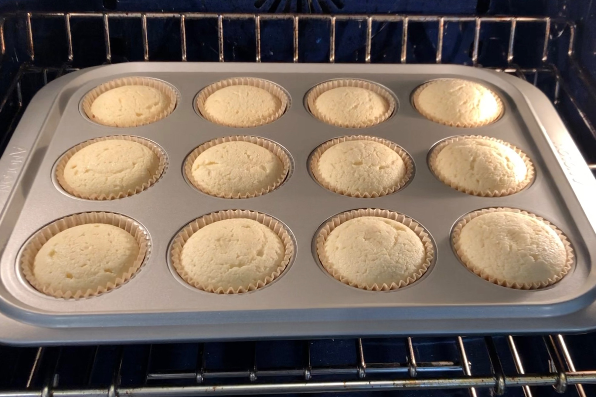 8. Bake cupcakes for 20 - 22 minutes. Remove from oven and let cool completely before decorating. -
